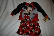 Mickey Mouse Pj'S Flannel 2T Nwt