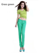 Fashion Women's Casual Skinny Leg Jeggings Pencil Pants Stretchy Jeans Trousers