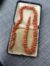 Antique Vintage Art Deco Salmon Branch Coral Necklace For Restring