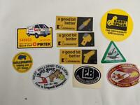 Retro Mining Sticker - 10 Stickers as pictured (Lot 35)