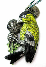 American Goldfinch Pewter Christmas Ornamant Dave Cusenza Wild Bird Series
