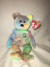 1996 Peace Bear Ty Beanie Baby in Mint Condition!