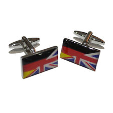 Union Jack Mixed with German Flag Cufflinks & Gift Pouch