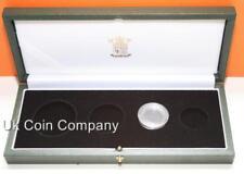 Royal Mint Cuero sintético verde oscuro vacía Caja de Monedas de ORO PROOF soberano 4