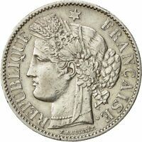 [#492015] Coin, France, Cérès, 2 Francs, 1887, Paris, AU(55-58), Silver, KM