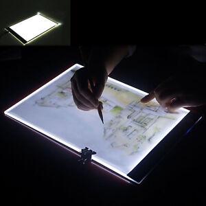 Leuchttablett Leuchttisch LED A4 Leuchtpult Leuchtplatte handlich Neu