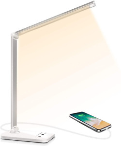 Lampe de Bureau LED, Lampes de Bureau Dimmable 5 Modes de Couleur 10 Niveaux