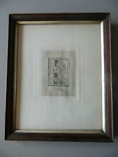 Portrait of Mogul Emperor Babur, C19th Litho. Framed.