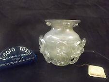 COPPA_VASO da Collezione VETRO MURANO mastro PAOLO ROSSI-GLASS BOWL CUP RARE
