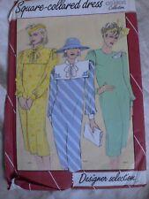 Vintage 1980 S Dress Sailor Collar sewing pattern 12-22