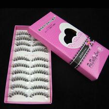 10 Pairs Natural Makeup Fake False Lashes Short Eyelashes Tough Handmade Black