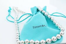"Tiffany & Co. Sterling Silver Graduated Beads 16"" Necklace W/ Box & Pouch $425+"