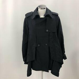 All Saints Jacket Women's Navy UK Size 10 Designer Stylish Winter 294264