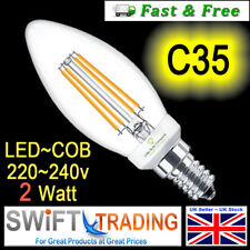 2W LED Candle Light Bulb E14 SES Warm White 30w Incandescent replacement