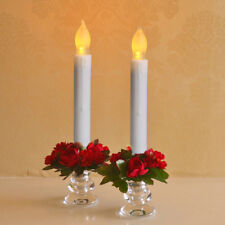 6x Tall Electric LED Candle Flameless Candle for Wedding Party Decor 165mm