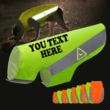 S-5XL Custom Name Print High Vis Viz Dog Coat Pet Reflective Safety Vest Orange