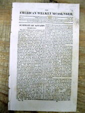 1814 War of 1812 newspaper BATTLE of CHPIPPEWA  Capture FORT ERIE Ontario CANADA