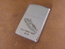 Vintage Zippo Lighter ..... USS Mount Hood .... AE - 29 ....  Vietnam Era