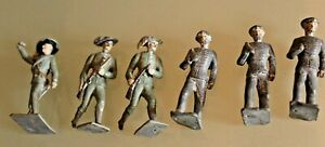Soldier Old Lead Bundle 6 Soldiers Infantry CBG Mignot