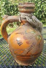 Antique Native Ceremony Pottery Jug Ancient Primitive Peru Terra Cotta