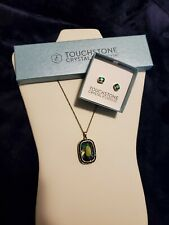 Touchstone Crystal By Swarovski 'Prism' Pendant & Earring Set, New In Box