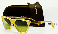 b87d4607a98b2 Tom Ford Men s Sunglasses TF500 S Andrew 41N Translucent Yellow Green 54mm  New