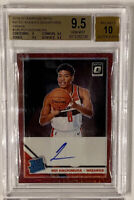 ROOKIE! 2019-20 Panini Donruss Optic (Red) Auto Rui Hachimura #188 BGS 9.5/10