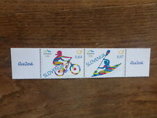 SLOVENIA 2016 RIO OLYMPIC GAMES SET 2 MINT STAMPS