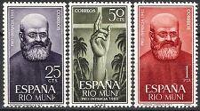 Colonias españolas Rio Muni 1963 bienestar infantil RELIGIÓN estampillada sin montar o nunca montada Fina sacerdote 37 - 39