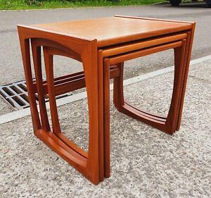 VINTAGE G PLAN QUADRILLE TEAK NEST OF TABLES    DELIVERY AVAILABLE
