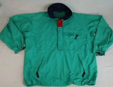 Vintage 90s Patagonia Men's XL Pullover Jacket Anorak Teal Blue Coat Ski 1/2 Zip