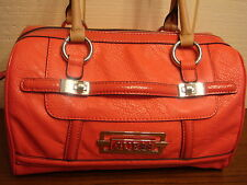 NWT GUESS FERRAND PINK BOX SATCHEL HANDBAG 100% AUTHENTIC