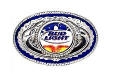 BUD LIGHT BEER BUDWEISER WESTERN MENS BELT BUCKLE USA