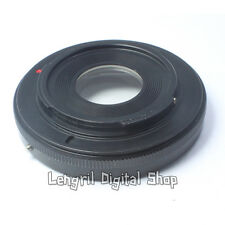 Contax Yashica Lens to Nikon F Mount Adapter Ring With Glass For D7000 D5000 D90