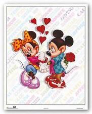 DISNEY ART PRINT Mickey and Minnie: Love Walt Disney