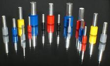 Aderendhülsen isoliert  0,75mm² - 10mm in grau halblange Ausführung - 100 Stück