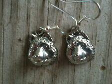 Head of Husky Dog Silver Plated Lead Free Pewter Earrings