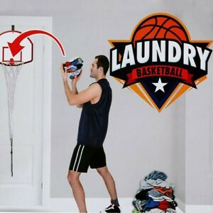 Laundry Bin Basketball Hoop Net Hanging Basket Bedroom Slam Dunk Over The Door