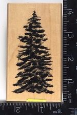 Rubber Stamp PINE TREE Air Brushed Stampscape Theme Trees Nature Scenery #A33