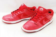 Nike SB Dunk Low Pro SZ US9 Red Patent Leather Sneaker Shoes From Japan #753