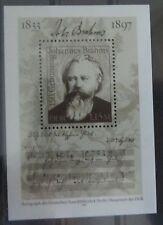 DDR Briefmarken 1983 Block 69 150.Geburtstag von Johannes Brahms Postfrisch