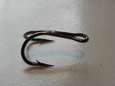Salmon hooks 10 x wide gape doubles size 8 silver/black nickel