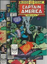 CAPTAIN AMERICA #360,361,362,363,364(1989 MARVEL)1ST APP. CROSSBONES  VF
