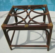 Bamboo End Table No Glass 22