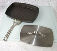 Calphalon® Contemporary Nonstick Panini Grill Pan & HEAVY STAINLESS PRESS Frypan