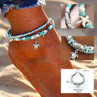 Ladies Turquoise Chain Anklet Ankle Bracelet Sandal Beach Foot Wholesale Jewelry