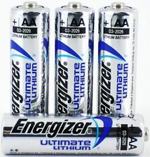 4 X Energizer AA ULTIMATE LITHIUM BATTERIE lr6 L91 MN1500 1.5 V scadenza lunga