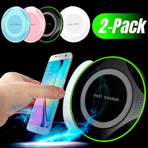 Qi Cargador Inalambrico Rapido Carga Para iPhone 12 11 Pro Max XS Samsung(2PACK)