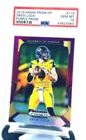 2019 Prizm DP Purple Prizm Broncos DREW LOCK ROOKIE CARD PSA 10 GEM MINT/POP 15