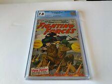 OUR FIGHTING FORCES 14 CGC 7.0 PANZER TANK GI BAZOOKA DC COMICS 1956